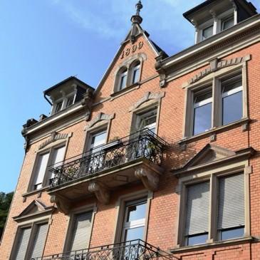 *nicht mehr verfügbar* Jugendstil Maisonette Wohnung mit 130m² in Baden-Baden – mit herrlichem Ausblick sowie Loggia und Dachterrasse