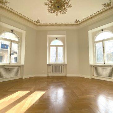 Baden-Baden herrschaftliche Hochparterre Wohnung in direkter Innenstadtlage in historischem Altbau
